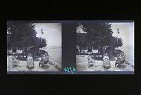 Suisse Saint-Gingolph 1931 Foto Stereo L6n14 Placca Da Lente Vintage Negativo