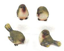 Set of Bird figurines , Mini Resin Wood Warbler Bird Figurine Set of 4,NWT