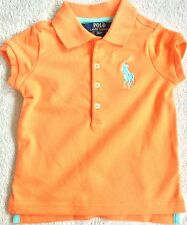 New Girls Ralph Lauren Big Pony Stretch Cotton Polo Shirt 3Y