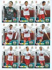 POLAND x 9 PANINI Adrenalyn XL UEFA Euro 2012 Cards