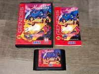 Aladdin Sega Genesis Complete CIB Authentic