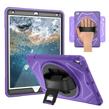 "For iPad 9.7"" Air 2 (2014)  Case 360 Rotating Cover Kickstand, Hand Strap"