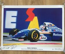 Signed Nigel Mansell Limited Edition print by Anthony Baker 1995