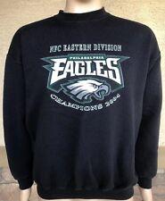 Vintage 2004 Philadelphia Eagles Champs 50 50 Crewneck Sweatshirt Tultex  Large fd5dfae34