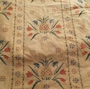 "Schumacher Itinerant's Stripe Pineapple Fabric Canvas Cotton 10 Yards 56"""