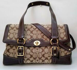 Coach Signature C Bleecker Satchel Handbag w/ Dust Bag EUC