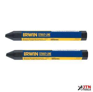 Irwin Strait-Line T666042 Crayon Black Pack of 2