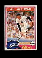 1981 Topps #460 Rich Goose Gossage Vintage Baseball Card~ NM / NM-MT