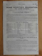 Advert c1877 HOME HOSPITAL ASSOCIATION for Upper & Middle Class Paying Patients