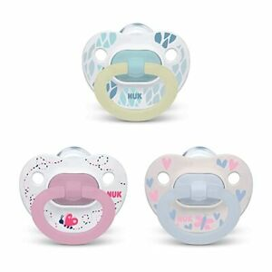 Nuk Silicone Orthodontic Pacifiers Value Pack Size 0-6 Months 3-Pack