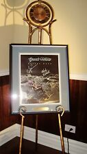 GREAT WHITE - DESERT MOON AUTOGRAPHED / SIGNED CD PROMO POSTER FRAMED!