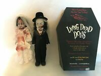 "Living Dead Dolls Mezco Toys Wedding Couple Bride Groom Man Woman 10"" Pre-owned"
