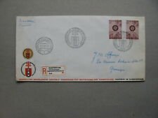 NETHERLANDS, event R-cover 1967, Int. TB/TBC Conference Amsterdam, spec. R-label