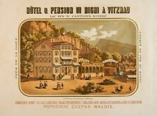 Original Plakat - Vitznau - Hôtel & Pension du Rigi
