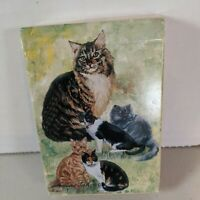 12 Cards By Ruth Maystead 3 Cats /& Christmas Tree Holiday Greeting Card Set