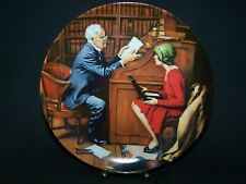 """Norman Rockwell """"The Professor"""" Collector Plate By Knowles Fine China 1986"""