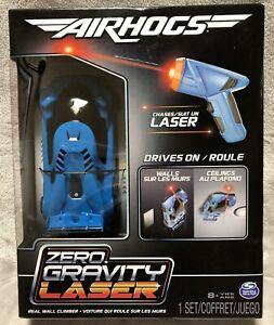 NEW Air Hogs Zero Gravity Laser Floor Ceiling Wall Climbing Blue Race Car