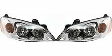 2005-2010 PONTIAC G6 HEAD LAMP LIGHT LEFT & RIGHT PAIR SET WITH AMBER SIGNAL