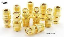 10-pk N Female Jack to BNC Male Plug Coaxial Adapter, CablesOnline RF-N122G-10