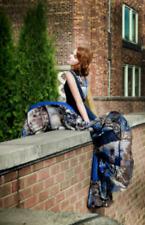 $548 BCBG MaxAzria Charlotte Blue Black Combo Pleated Dress SZ 4 XS Small S 6 8
