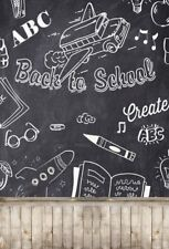 Back To School Chalkboard Photography Backgrounds 5x7ft Vinyl Photo Backdrops