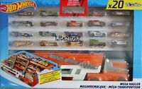 New Hot Wheels Mega Hauler Transporter with 20 Cars - Holds up to 50 cars
