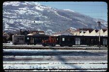35mm slide SBB CFF FFS Tm 2/2 435 Depot where? Switzerland 1976 original