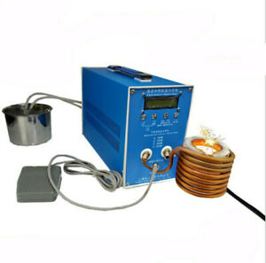 New 2800W 1700° High-frequency Induction Heating Silver Gold Melting Furnace