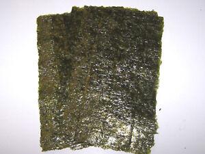 20 Sheets Dried Nori Seaweed - Marine Fish Food