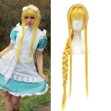 Sword Art Online SAO Ⅲ Alicization Alice Cosplay Wig Golden Yellow Braided Wigs