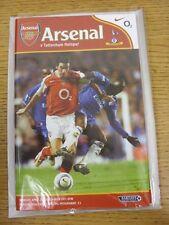 25/04/2005 Arsenal v Tottenham Hotspur  (Excellent Condition)