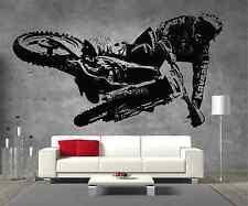 Motocross Kawasaki Motorbike Vinyl Sticker Wall Art Boys Bedroom Garage