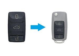 AMAKEY Gummi Tastenfeld für VW SEAT SKODA Klappschlüssel 1.Generation   3 Tasten