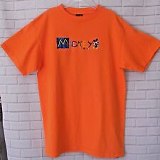 Disney Mickey Mouse T shirt Mickey Unlimited Orange Large