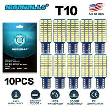 10PCS T10 LED License Plate Light Bulbs 6000K Bright White 168 192 194 W5W
