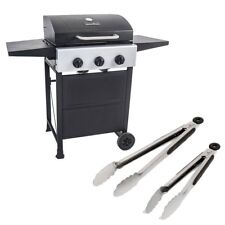 Master Cook 3 Burners Gas Grill  Barbecue Outdoor Propane Grill + 2 BBQ Tongs