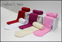Baby Girls TIGHTS Opaque Plain Microfibre 40 Denier DEN Sizes 6m - 12+yrs