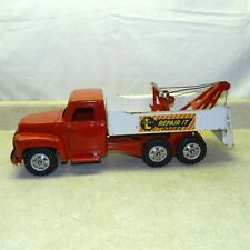 "Vintage Buddy L ""Repair It Service"" Tow Truck, Pressed Steel Toy Vehicle"