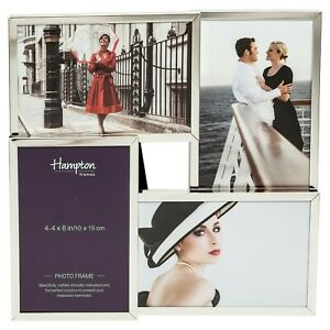 JACKSON Four 4x6 Multi Aperture Gift Photo Picture Display Frame in Silver