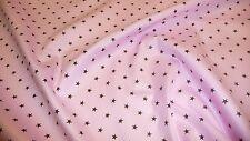 NEU Stoff 100 % Baumwolle  Patchwork  Baumwollstoffe Kinderstoff Sterne rosa