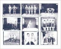 Nine vintage wrestling/physique photos. Reprint on Kodak paper. Gay interest. #1