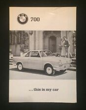 Vintage Rare Sales Brochure BMW 700 Coupe Germany Original