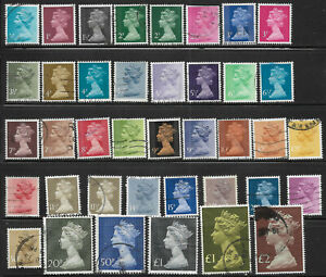 Great Britain, 39 different, Machin definitives,btwn #MH22 and #MH175, CV=$15.55