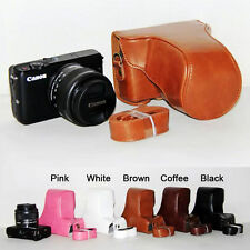 Leather Camera case bag Cover For Canon Eos M10 15-45mm Lens