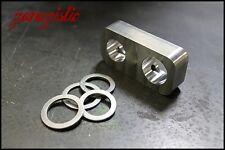 BMW Aluminum Power Steering Delete E30, E36, 316, 318, 325, M3 Rack plate block