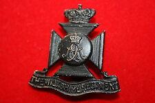 BRITISH ARMY METAL CAP BADGE BLACKEND BRASS WILTSHIRE REGIMENT COPY ?