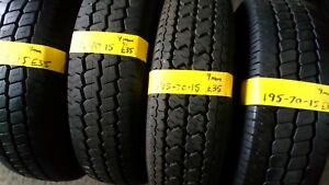 195 70 15 PART WORN VAN TYRES WITH 9MM FITTED AND BALANCED TRANSIT WHEELS