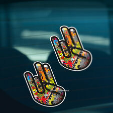 2x STICKER BOMB SHOCKER Funny Car, Window, Bumper DRIFT JDM Vinyl Decal Stickers