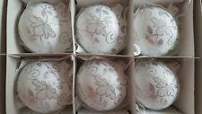6 Hand Painted  Glass Bauble Christmas Tree Decorations ,high quality,80 mm !!!!