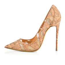 Women Pointed Toe Stiletto High Heel Pumps Patchwork Cutouts Mesh Breathable